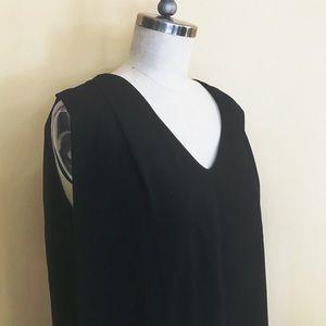 ASOS Black Sleeveless A-line Dress